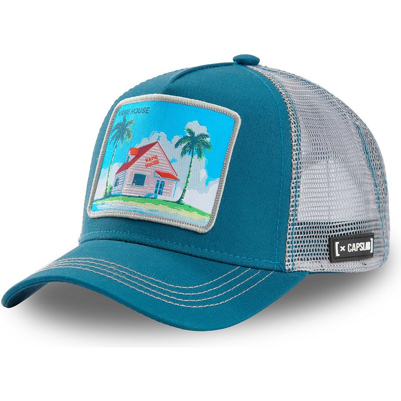 capslab-kame-house-hou3-dragon-ball-blue-and-grey-trucker-hat