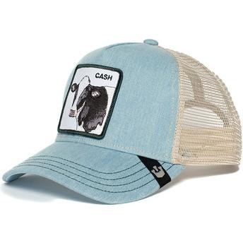 Goorin Bros. Cash Cow Blue and White Trucker Hat