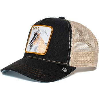 Goorin Bros. Goat G.O.A.T. Black and White Trucker Hat