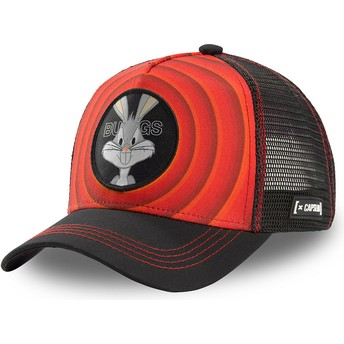 Capslab Bugs Bunny Bullseye Color Rings LOO BUG1 Looney Tunes Red and Black Trucker Hat