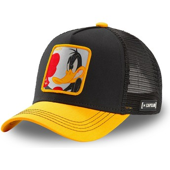 Capslab Daffy Duck LOO DUK Looney Tunes Black and Yellow Trucker Hat