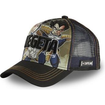 Capslab Vegeta DBZ VEG Dragon Ball Black Trucker Hat