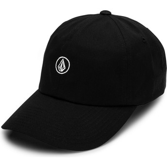 Volcom Curved Brim Black Circle Stone Black Adjustable Cap