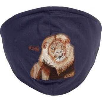 Goorin Bros. Lion Mane Cat Navy Blue Reusable Face Mask