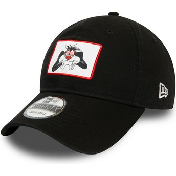 New Era Curved Brim 9TWENTY Character Silvestre Looney Tunes Black Adjustable Cap