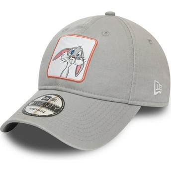 New Era Curved Brim 9TWENTY Character Bugs Bunny Looney Tunes Grey Adjustable Cap