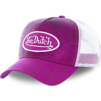 Von Dutch PUR Pink and White Trucker Hat