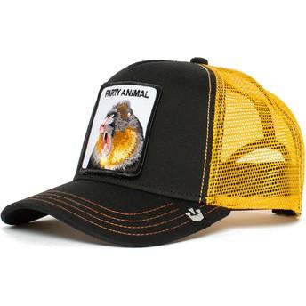 Goorin Bros. Monkey Party Animal Black and Yellow Trucker Hat