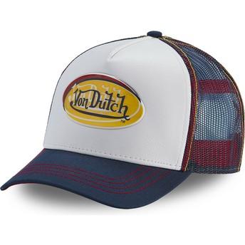 Von Dutch ADEC WHI White and Blue Trucker Hat
