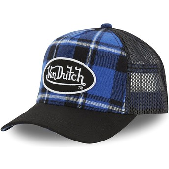 Von Dutch CAR A3 Blue Checkered Trucker Hat