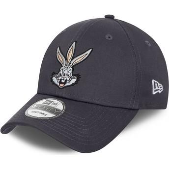 New Era Curved Brim 9FORTY Bugs Bunny Looney Tunes Grey Adjustable Cap