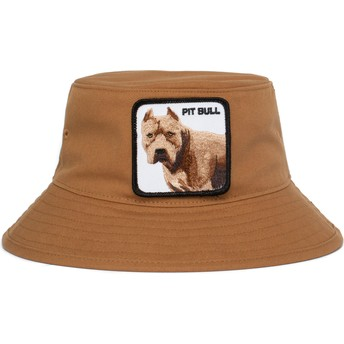 Goorin Bros. Pitbull Dog Misunderstood Brown Bucket Hat