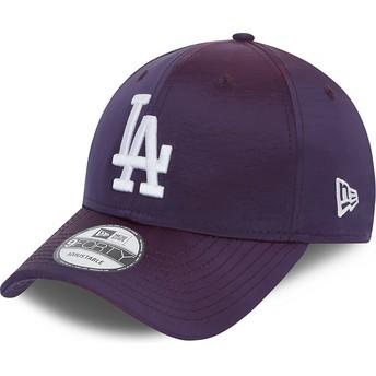 New Era Curved Brim 9FORTY Hypertone Los Angeles Dodgers MLB Purple Adjustable Cap