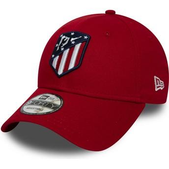 New Era Curved Brim 9FORTY Essential Atlético Madrid LFP Red Adjustable Cap