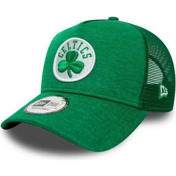 New Era Shadow Tech A Frame Boston Celtics NBA Green Trucker Hat