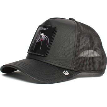 Goorin Bros. Spider Deadly Encounter The Farm Black Trucker Hat