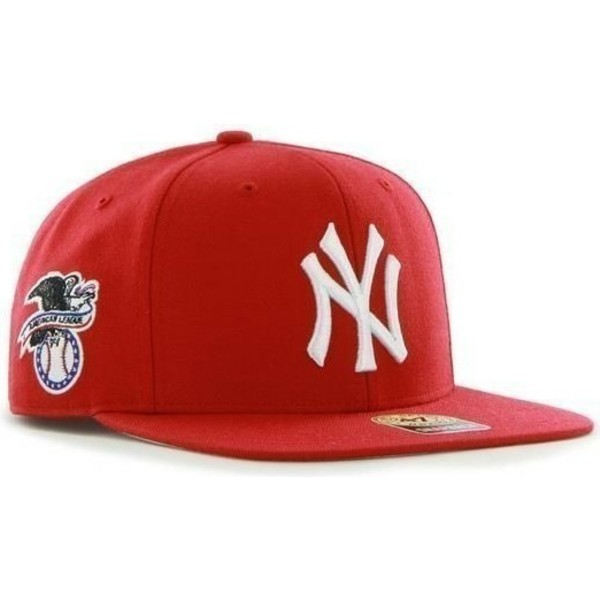 47-brand-flat-brim-new-york-yankees-mlb-sure-shot-red-snapback-cap