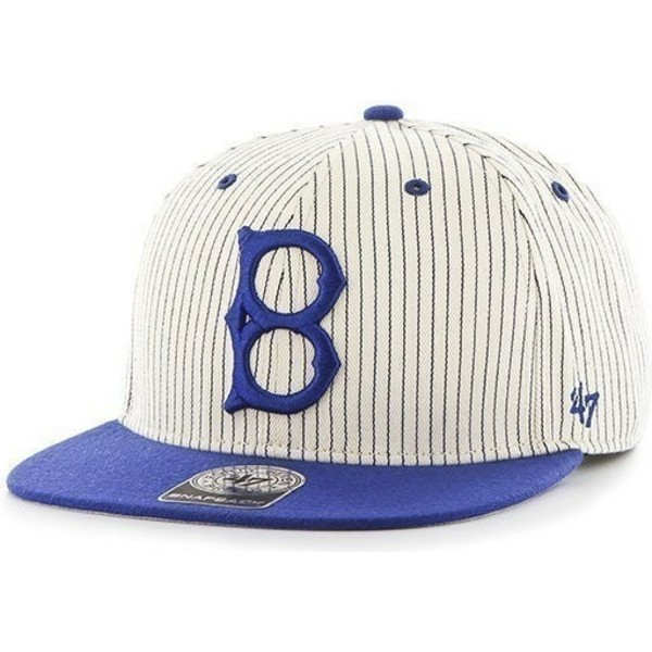 47-brand-flat-brim-los-angeles-dodgers-mlb-grey-with-blue-stripes-snapback-cap