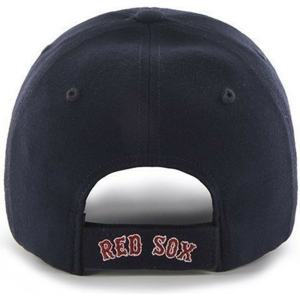 47-brand-curved-brim-red-logoboston-red-sox-mlb-clean-up-navy-blue-cap