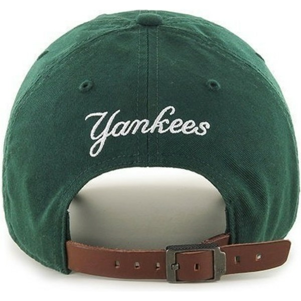 47-brand-curved-brim-small-logo-new-york-yankees-mlb-clean-up-green-cap