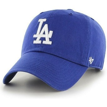 47 Brand Curved Brim Los Angeles Dodgers MLB Clean Up Blue Cap