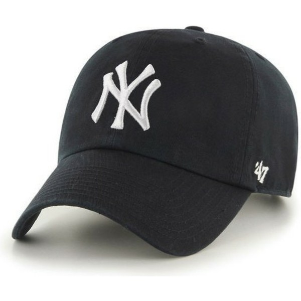 47-brand-curved-brim-new-york-yankees-mlb-clean-up-black-cap