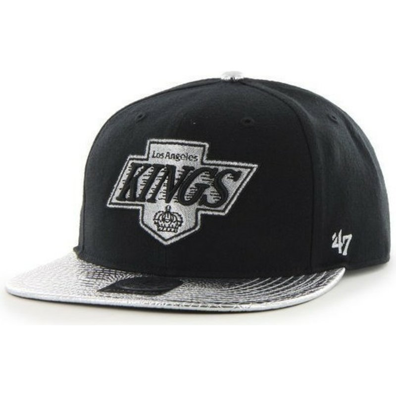 47-brand-flat-brim-los-angeles-kings-nhl-black-snapback-cap