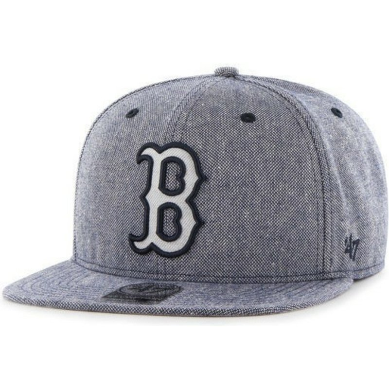47-brand-flat-brim-denim-mlb-boston-red-sox-navy-blue-snapback-cap