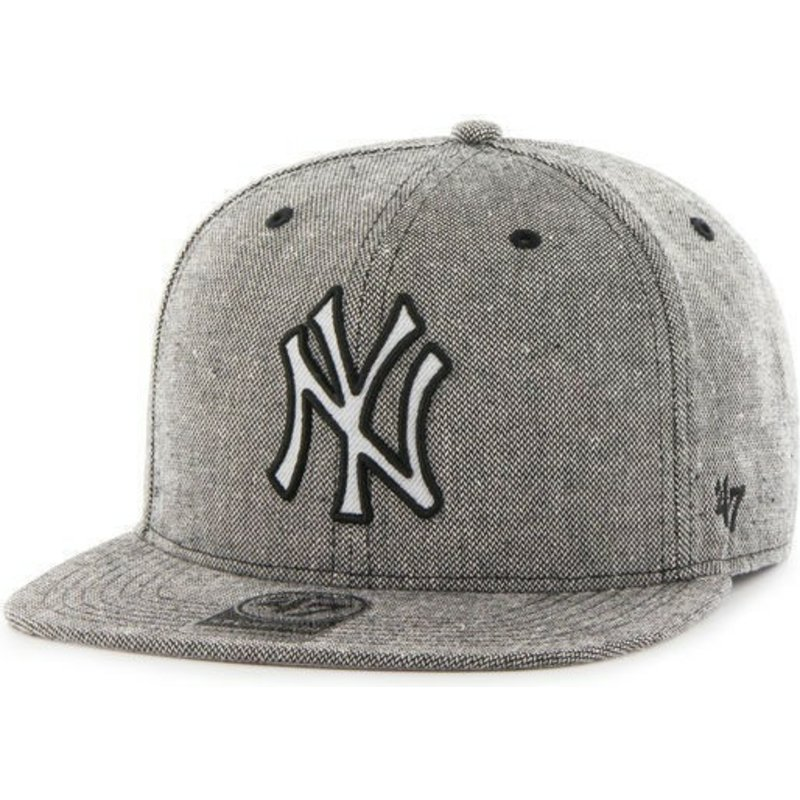 47-brand-flat-brim-denim-mlb-new-york-yankees-black-snapback-cap