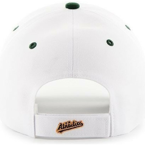 47-brand-curved-brim-mlb-oakland-athletics-white-cap-with-green-visor