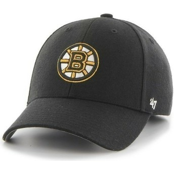 47 Brand Curved Brim MLB Boston Bruins Smooth Black Cap