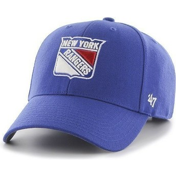 47 Brand Curved Brim NHL New York Rangers Blue Cap