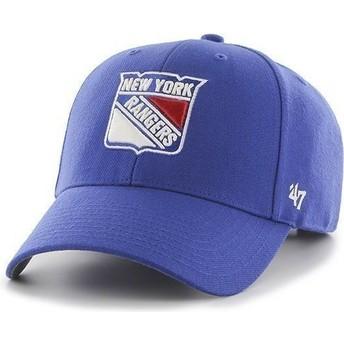 47 Brand Curved Brim NHL New York Rangers Blue Cap