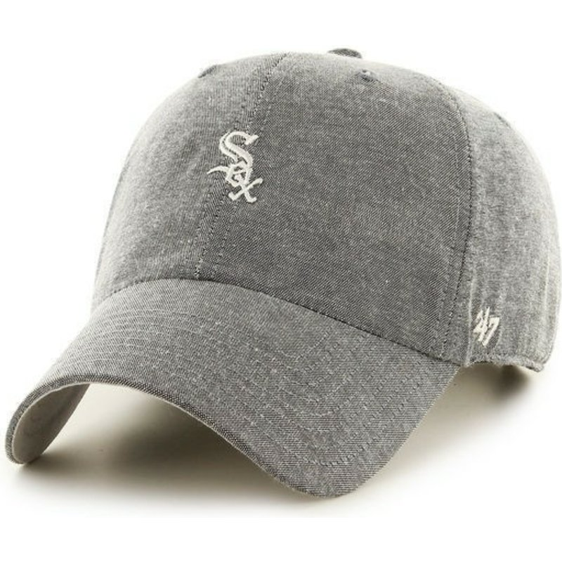 47-brand-curved-brim-small-logo-mlb-chicago-white-sox-grey-cap