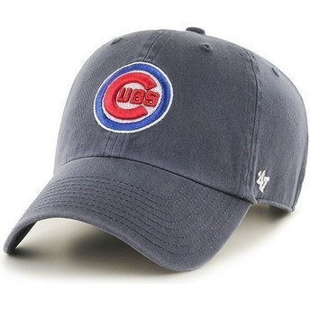 47 Brand Curved Brim Front Logo MLB Chicago Cubs Navy Blue Cap