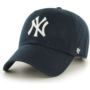 47 Brand Curved Brim Youth New York Yankees MLB Navy Blue Cap