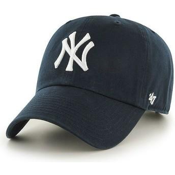 47 Brand Curved Brim New York Yankees MLB Clean Up Navy Blue Cap