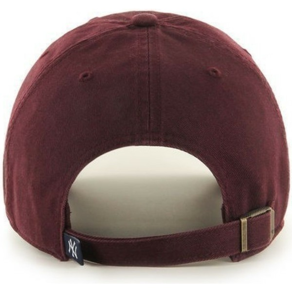 47-brand-curved-brim-maroon-logonew-york-yankees-mlb-clean-up-maroon-cap