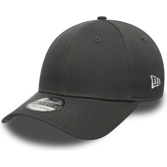 New Era Curved Brim 39THIRTY Basic Flag Grey Fitted Cap