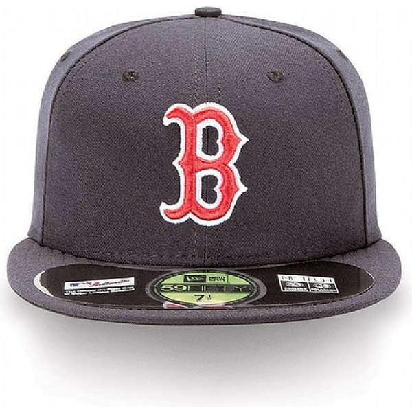new-era-flat-brim-59fifty-authentic-on-field-boston-red-sox-mlb-navy-blue-fitted-cap