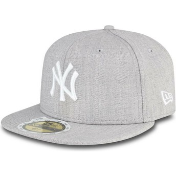 New Era Flat Brim outh 59FIFTY Essential New York Yankees MLB Grey Fitted Cap