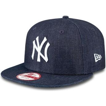 New Era Flat Brim 9FIFTY Essential New York Yankees MLB Navy Blue Snapback Cap