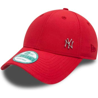 New Era Curved Brim 9FORTY Flawless Logo New York Yankees MLB Red Adjustable Cap