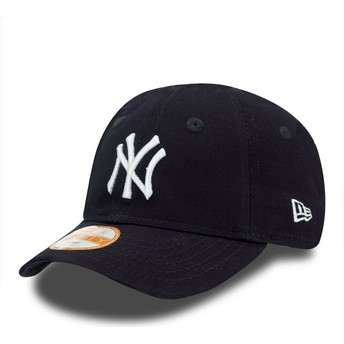 New Era Curved Brim Youth 9FORTY Essential New York Yankees MLB Blue Adjustable Cap